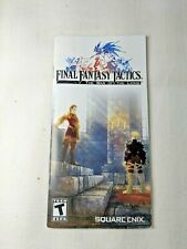 Final Fantasy Tactics The War of the Lions Playstation PSP Manual Only No Game