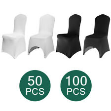100 Flat Arched Front Cover Spandex Lycra Chair Cover Wedding Party Decor Xmas