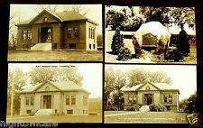 RITTER LIBRARY & WORLD WAR II MEMORIAL LUNENBURG MA 4 Photo Postcards 1911-1945