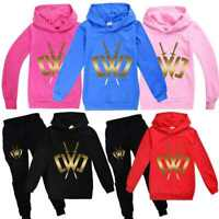 Kids CWC Chad Wild Clay Hoodie Hooded Top Trousers Youtuber Game Tracksuit Set