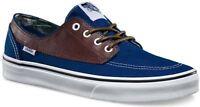 VANS Brigata (Leather/Plaid) Estate Blue Potting Soil Men's Skate Shoes