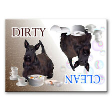 Scottish Terrier Clean Dirty Dishwasher Magnet Scottie