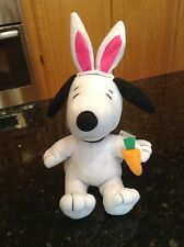 Peanuts SNOOPY with BUNNY EARS and CARROT Easter Plush