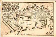 Antique map, Plan de Toulon