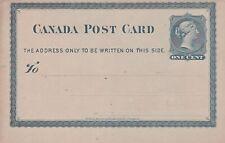 Canada 1880 Victoria 1c Toronto Philharmonic Society postcard VGC