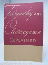 1930s TELEPATHY & CLAIRVOYANCE Explained Booklet CARRINGTON Home Institute