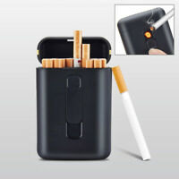 Electric Cigarette Lighter Usb Rechargeable Hold 20 Sandard Cigarettes Case Box
