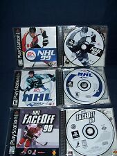 NHL Playstation Game Lot NHL 1999 and 2001 Face Off 98 EA Sports Used