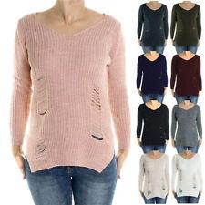 Winter Damen-Pullover mit mittlerer Strickart aus Baumwollmischung