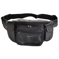 Genuine Leather Waist Bumbag with Organiser Section for Men & Ladies