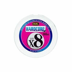 Duel Hardcore X8 5.0-300m Multicolor 36kg/80lb Ultra PE 8 Braid Line 328 yds