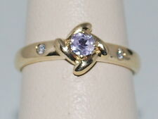 14k Gold ring with Tanzanite and Diamonds