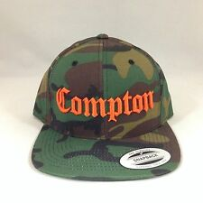 Compton Snapback Hat  Yupoong 3D Embroidery Adjustable Camo Cap N.W.A Eazy E