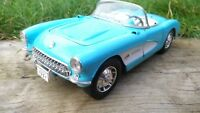Burago 1:18 Chevrolet Corvette 1957 baby Blue American Sports Car Model Toy