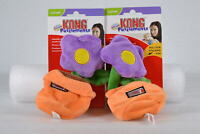 LOT OF 2 KONG Puzzlements Flower Pot Catnip Cat toys:  Squeaks & Crinkles
