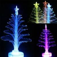 LED Fiber Optic Mini Nightlight Christmas Tree Light Lamp Decorations Xmas Gift