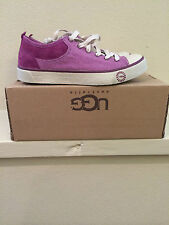 UGG Womens 5.5 EVERA Canvas Suede Purple Sneakers Shoes 1000452 SGPL (Youth 3.5)
