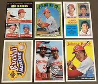 HOF Johnny Bench 6-CARD LOT including 1971 & 1972 Topps