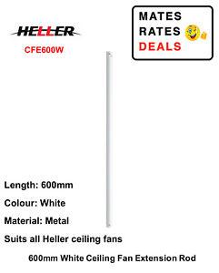 Heller 600mm White Ceiling Fan Extension Rod CFE600W-NEW