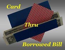 Magic Tricks - Card Thru Borrowed Bill Illusion - New!