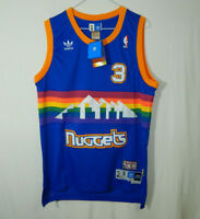 NWT Allen Iverson #3 Denver Nuggets NBA Basketball Jersey ADIDAS Size SMALL S