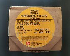 KODAK PLUS X AEROGRAPHIC FILM 2402 ESTAR BASE ISO A200(70mm x 100ft)Expired