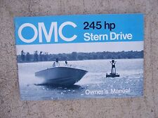 1972 OMC Stern Drive Owner Manual 245  HP  MORE MARINE MANUALS IN OUR STORE  S