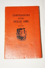 GOETHE CONFESSIONS D'UNE BELLE AME-1931 NUMEROTE
