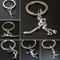 Metal aleación llavero Metal Llavero Llavero con caja de regalo Plata deportiva