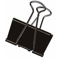 10 x Foldback Klammern 51 mm Vielzweckklammern Büro Klemmvolumen 28 mm schwarz