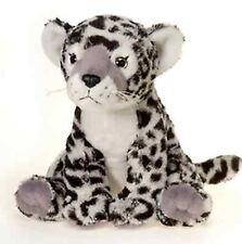 10 Inch Sitting Snow Leopard Plush Stuffed Animal by Fiesta