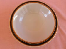 Caramel CEREAL BOWL Brown & Orange Band Japan stoneware