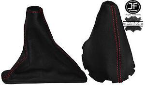 RED STITCH LEATHER GEAR & HANDBRAKE BOOT FITS TOYOTA COROLLA E15 E150 07-13