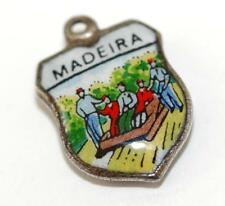 Vintage Madeira Portugal Enamel Travel Shield Bracelet Charm