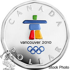 Canada 2010 $1 Lucky Loonie Inukshuk Silver Coin