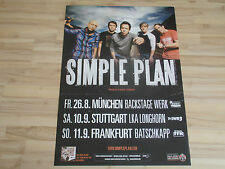 * Simple Plan  *  Original Concert/Promo Poster DIN A 1 ...84 x 60cm