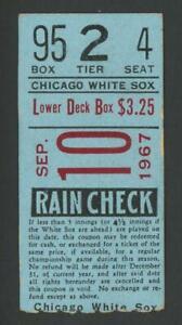 1967 JOE HORLEN No-Hitter Ticket stub | Sep 10 Chicago White Sox w/signed photo