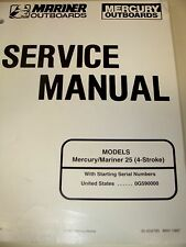 Mercury Mariner Outboard Service Manual 25hp 4-Stroke Ser #0G590000+