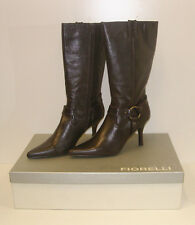 FIORELLI WOMENS POINTY WINTER BOOTS MATANA CHOC SIZE 9.5 LEATHER LADIES rrp $279