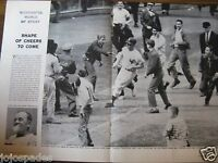 "1959 Mickey Mantle Article & Pic-8.5 x 11""-New York Yankees-Home Run Trot w Fans"