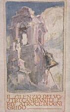"""A9230) WW1 FRANCHIGIA DI MAZZONI """"IL SILENZIO DEI NOSTRI CAMPANILI"""". NUOVA."""
