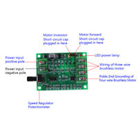 5V 12V Brushless DC Motor Driver Controller Board for 'Hard Drive Motor 3/4 Wire