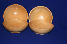 four Vintage wooden bowls by Kitchen King/Japan