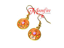 SAILOR MOON CRYSTAL STAR EARRINGS CRISIS MOON PINK TRANSFORMATION QUALITY