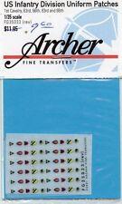 Archer 1:35 US Infantry Division Uniform Patch Dry Transfer Set #FG35033(Rev)