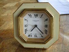 Vintage Gold plated CARTIER 8 Days Desk Alarm Clock. Cal. 949. For parts.