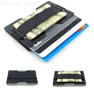 Radix One Black Steel - RFID Blocking Slim Wallet Ultra Strong Money Clip