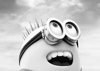 Minion Large Poster Art Print Black & White Canvas or Card