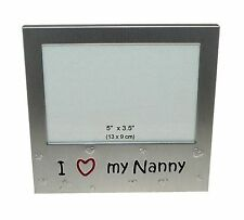 I Love My Nanny ' - Expressions Photo Picture Frame Gift - 5 x ... Free Shipping