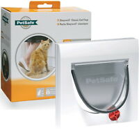 STAYWELL PETSAFE 917 4 WAY LOCKING CAT FLAP CAT DOOR TUNNEL UP TO 60MM THICK